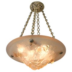 French Art Deco Chandelier by Muller Fres Luneville