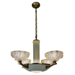 French Art Deco Chandelier by Patitot