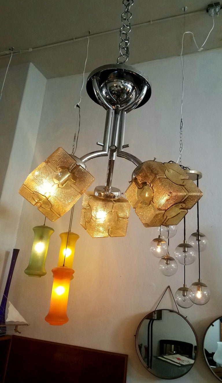 European French Art Deco Chandelier For Sale