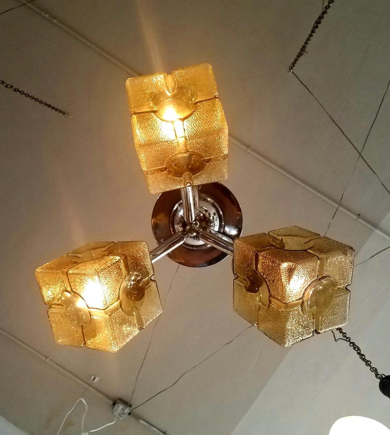 French Art Deco Chandelier In Good Condition For Sale In Los Angeles, CA