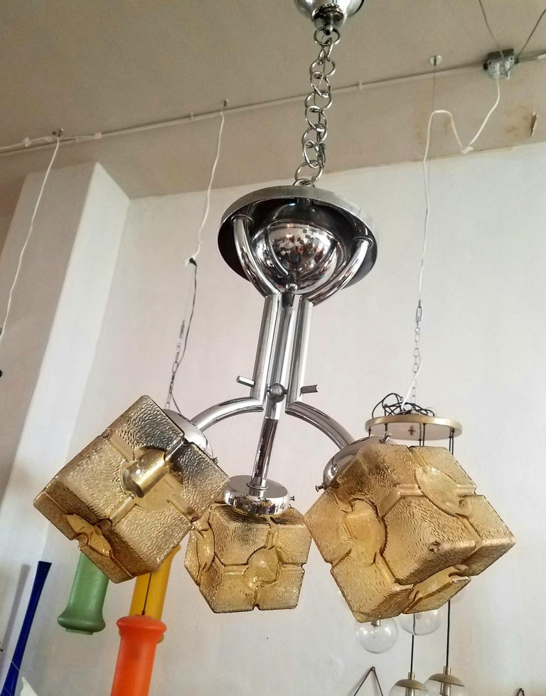 Mid-20th Century French Art Deco Chandelier For Sale