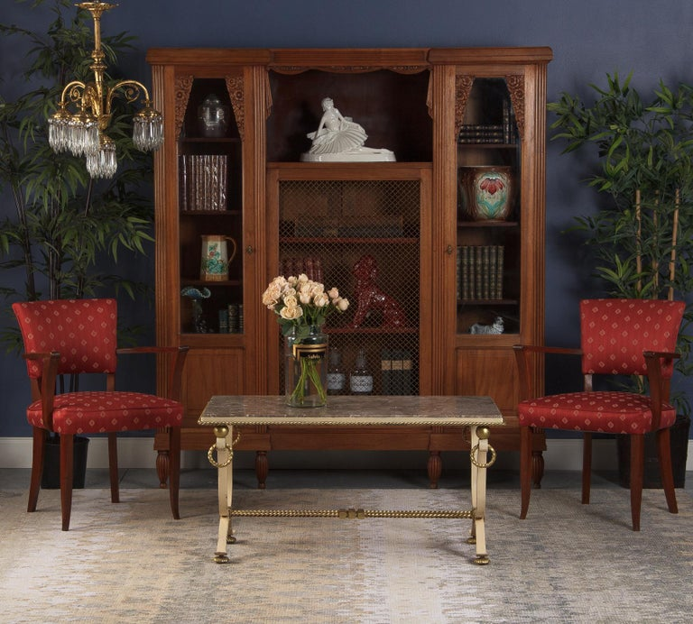 French Art Deco Cherrywood Bookcase, 1930s For Sale 6