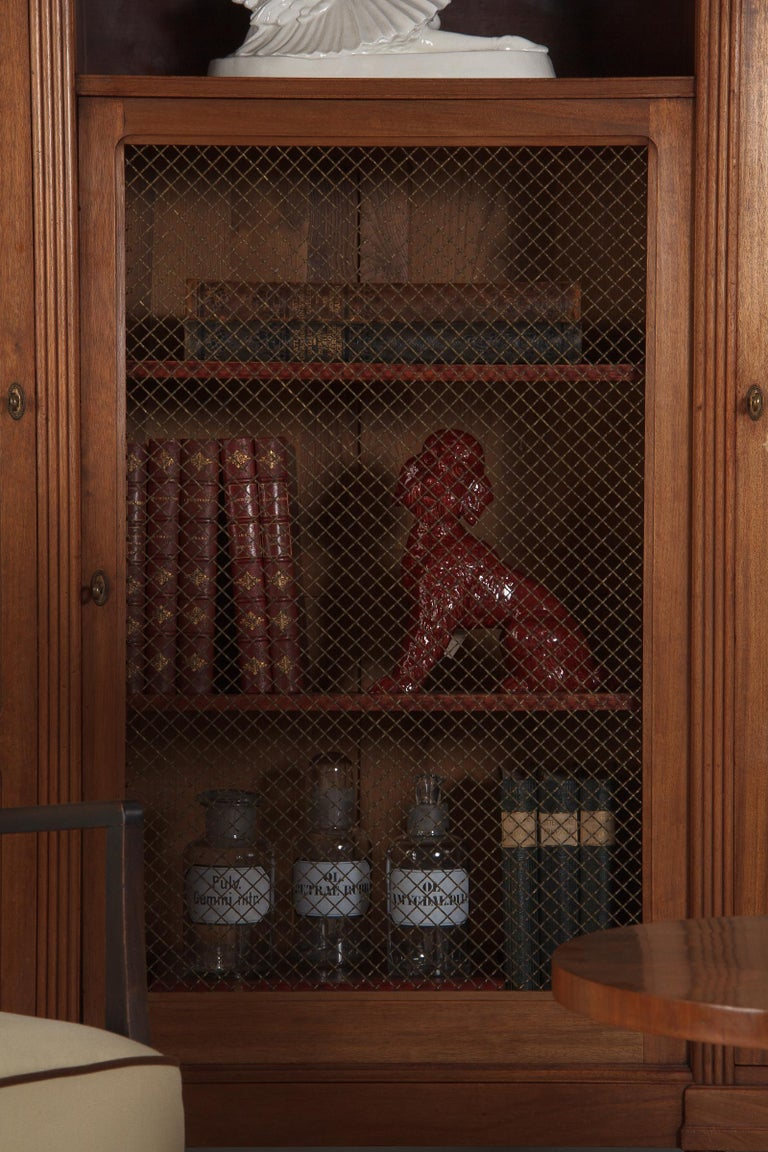 French Art Deco Cherrywood Bookcase, 1930s For Sale 13
