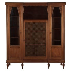 French Art Deco Cherrywood Bookcase, 1930s