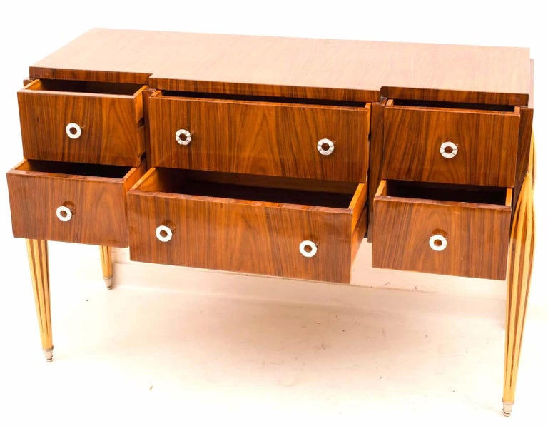Wood French Art Deco Chest of Drawer or Commode, 1930 For Sale