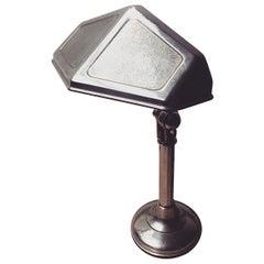 French Art Deco Chrome-Plated Pirouette Desk Lamp, circa 1925