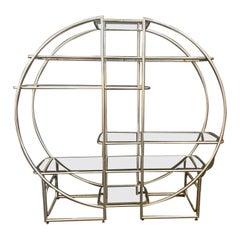 French Art Deco Chrome-Plated Tubular Steel Shelf, 1920s