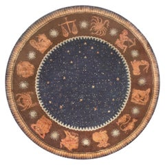 French Art Deco Circle Rug by Paul Follot