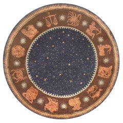 High-quality Round French Art Deco Rug by Paul Follot