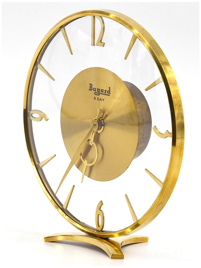 French Art Deco Clock by Bayard, 1930s In Excellent Condition For Sale In Saint-Amans-des-Cots, FR
