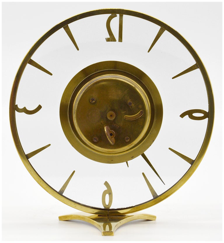 Mid-20th Century French Art Deco Clock by Bayard, 1930s For Sale