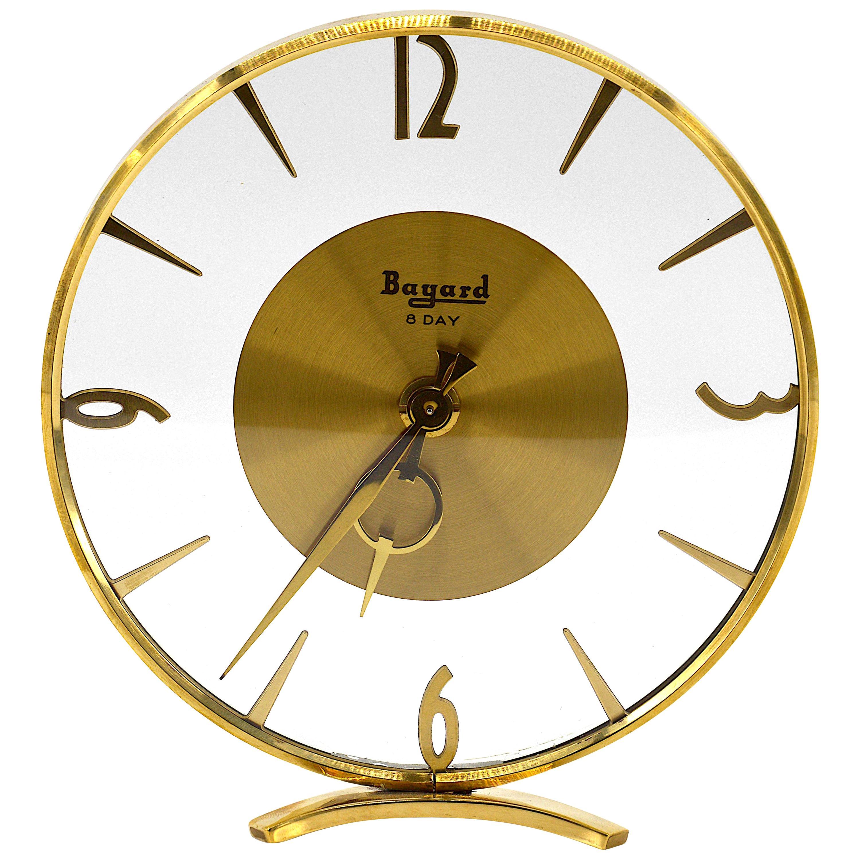 French Art Deco Clock by Bayard, 1930s