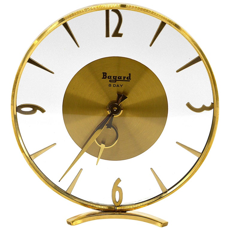 French Art Deco Clock by Bayard, 1930s For Sale