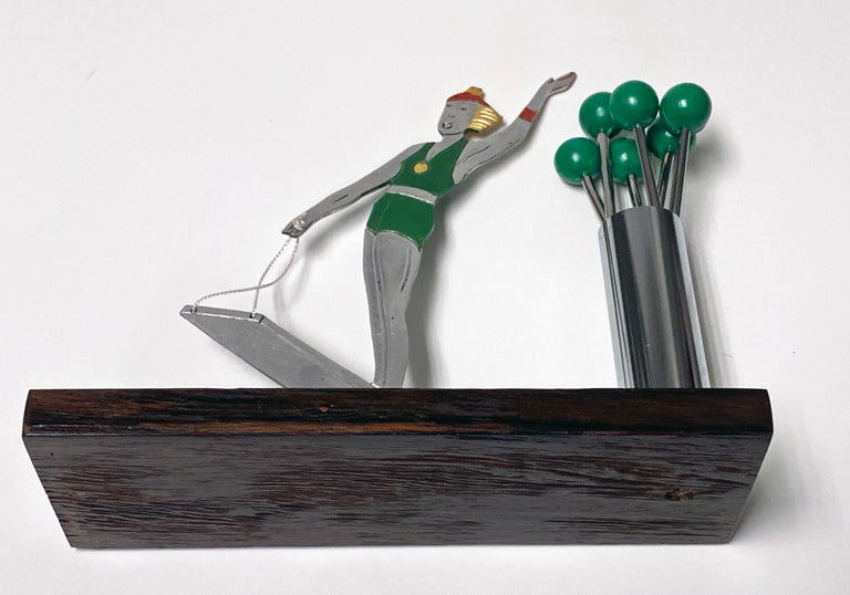 French Art Deco Cocktail Picks Set, Probably Sudre, circa 1930 For Sale 1