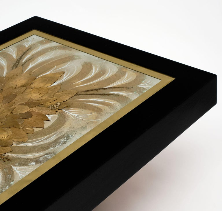 Ebonized French Art Deco Coffee Table For Sale