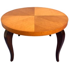French Art Deco Maple Coffee Table, 1940s