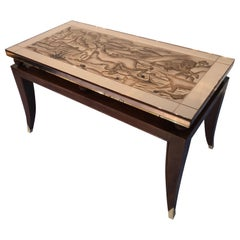 French Art Deco Coffee Table, in the Style of Pascaud, 1940
