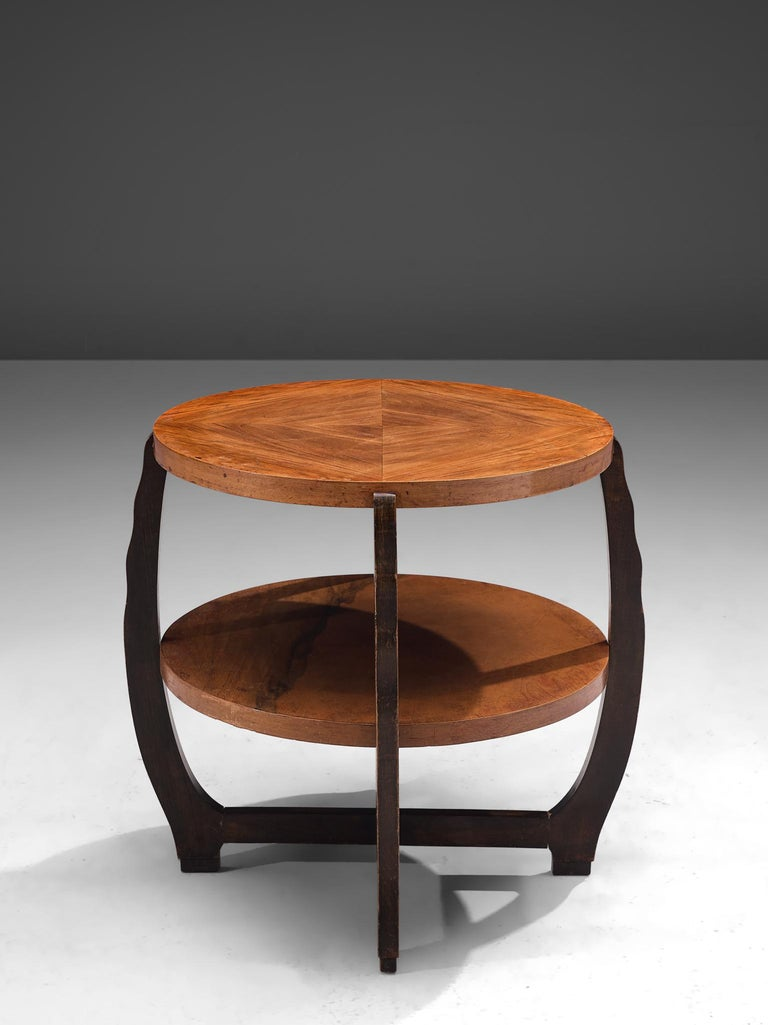 Mid-20th Century French Art Deco Coffee Table in Walnut For Sale