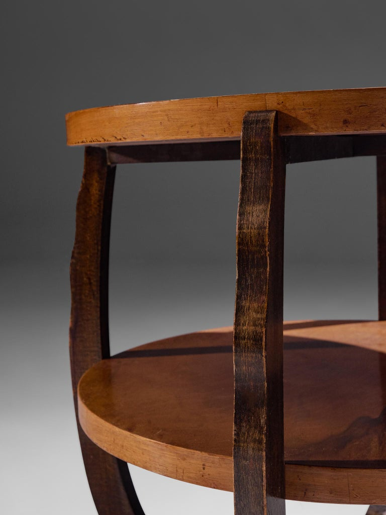 French Art Deco Coffee Table in Walnut For Sale 2