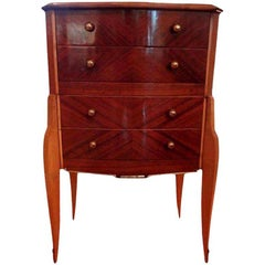 French Art Deco Commode or Chest with Bronze Hardware, After Jules Leleu
