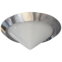 French Art Deco Conical Flushmount by Jean Perzel
