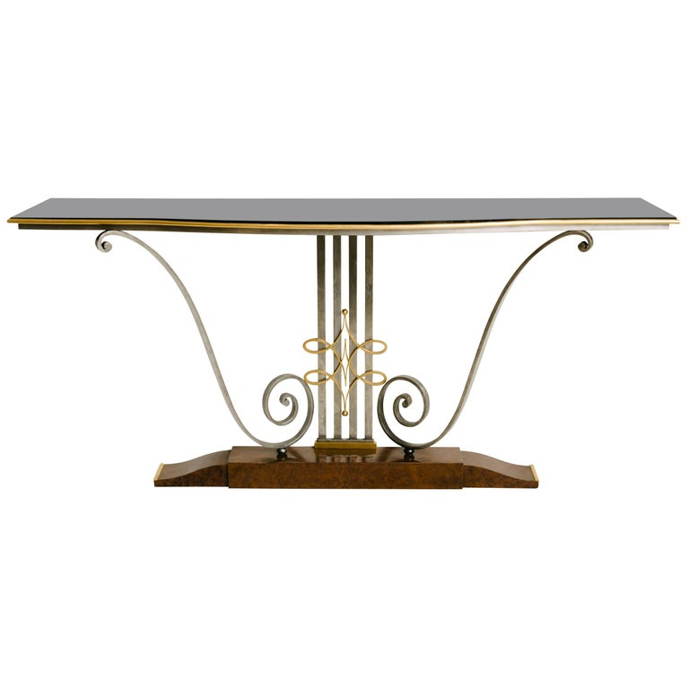 French Art Deco Console Table by Raymond Subes For Sale