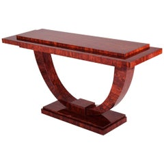 French Art Deco Console Table, Material Palisander, Period 1920-1929