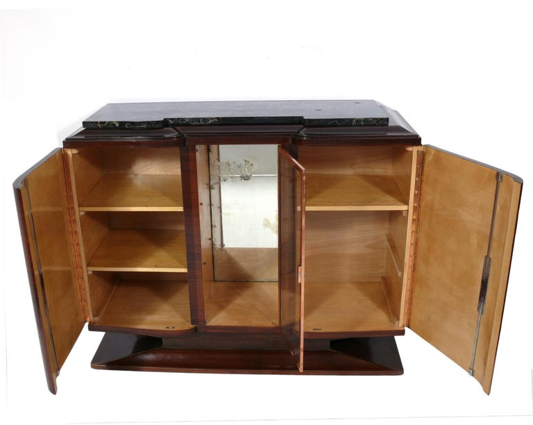 Plated French Art Deco Credenza, circa 1930s For Sale