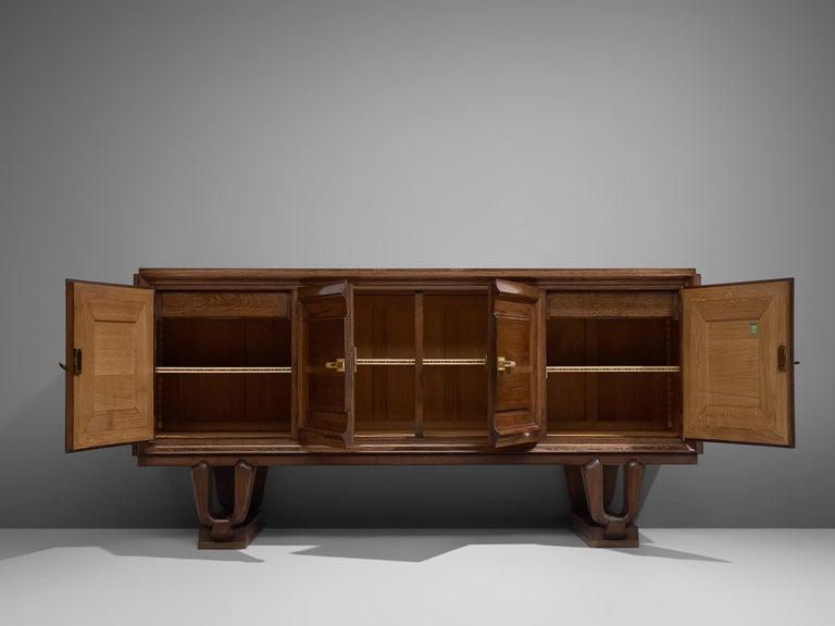 French Art Deco Credenza in Darkened Oak For Sale 6