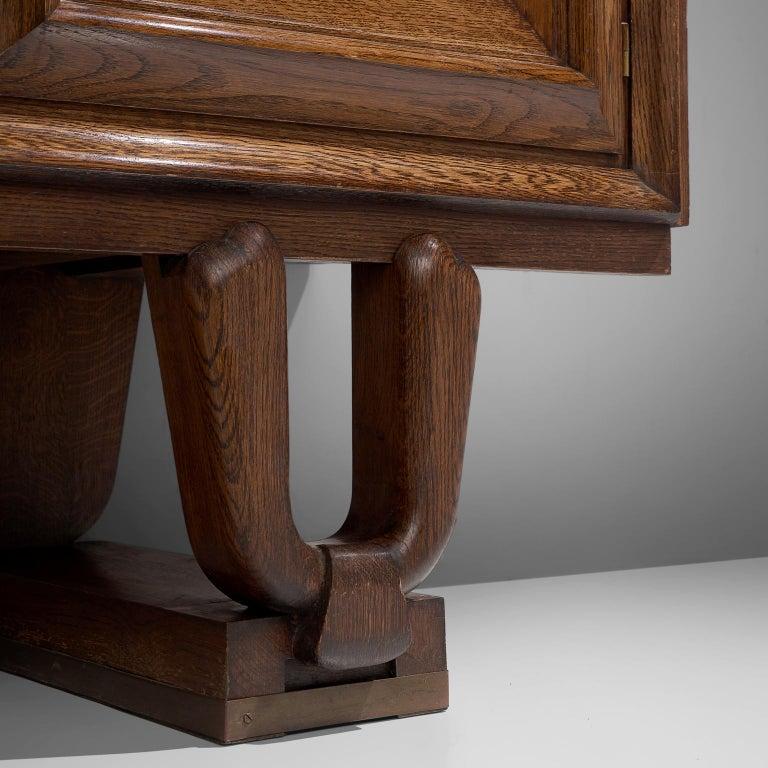 French Art Deco Credenza in Darkened Oak For Sale 1