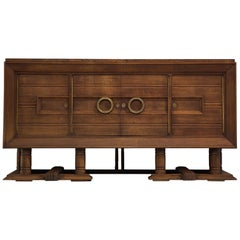 French Art Deco Credenza in Darkened Oak