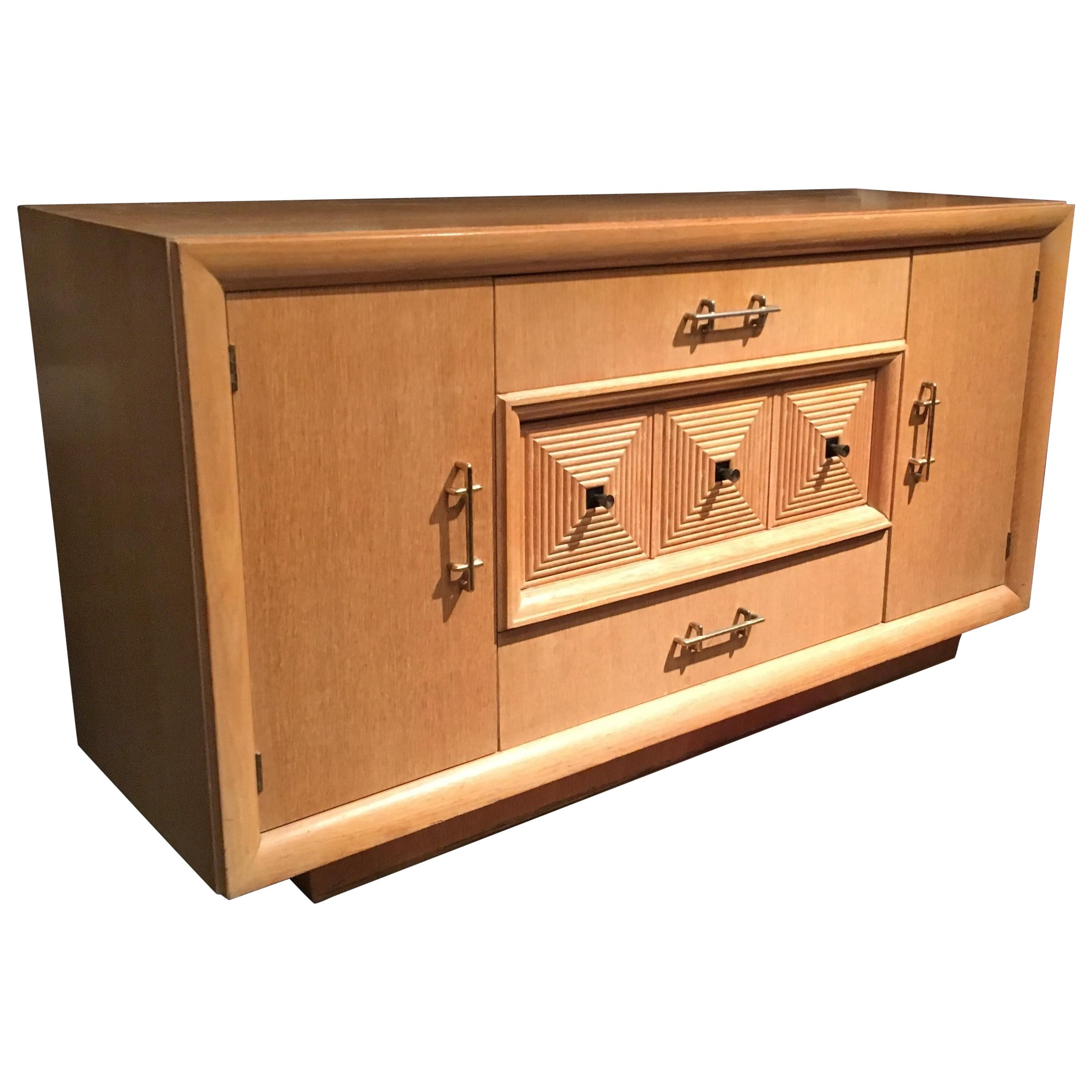 French Art Deco Credenza or Sideboard Attributed to Maxime Old