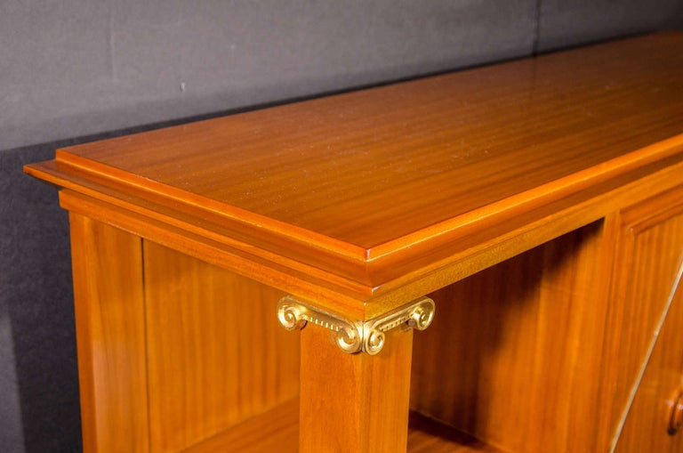 French Art Deco Cuban Mahogany Sideboard Cabinet by Pierre Lardin, circa 1940s For Sale 8