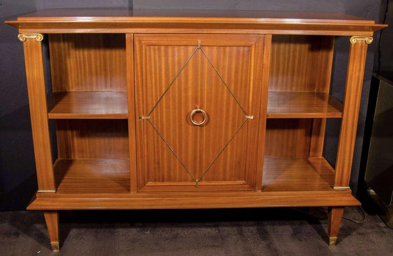 Neoclassical French Art Deco Cuban Mahogany Sideboard Cabinet by Pierre Lardin, circa 1940s For Sale