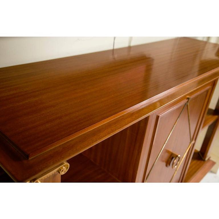 Mid-20th Century French Art Deco Cuban Mahogany Sideboard Cabinet by Pierre Lardin, circa 1940s For Sale