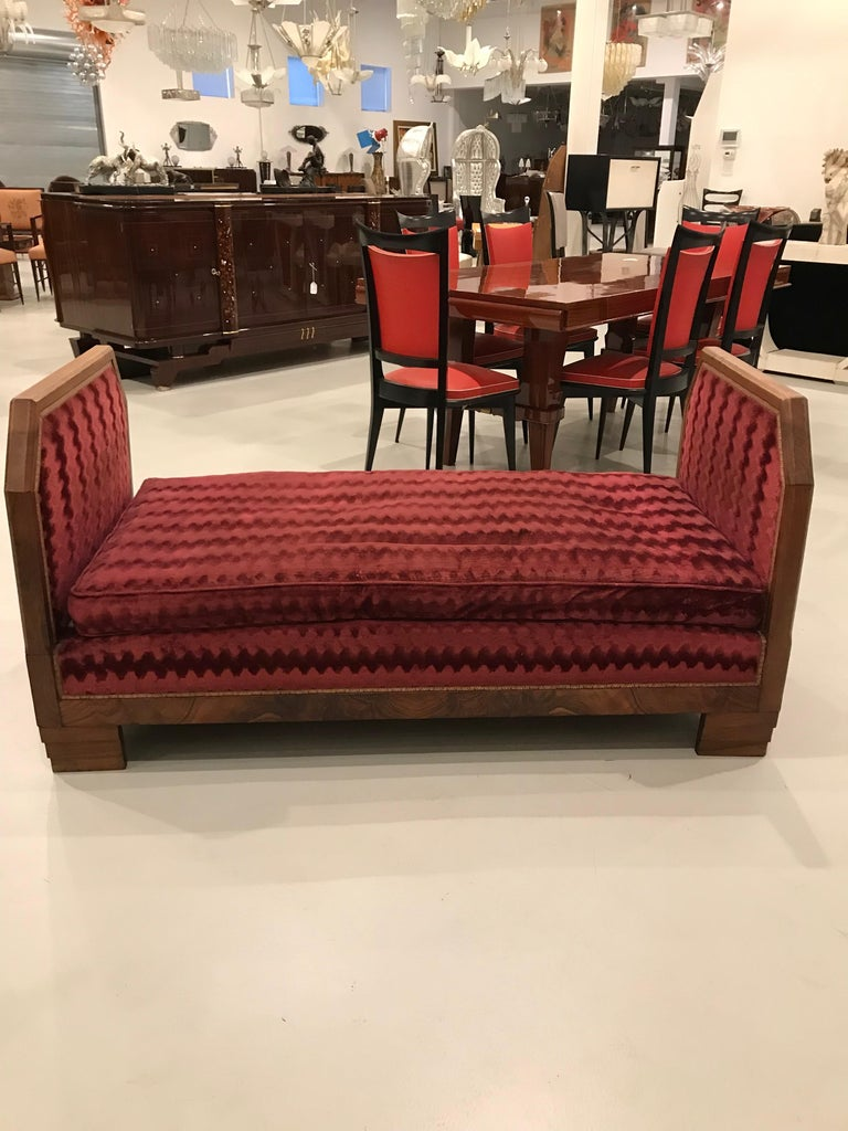 Fabric French Art Deco Day Bed For Sale