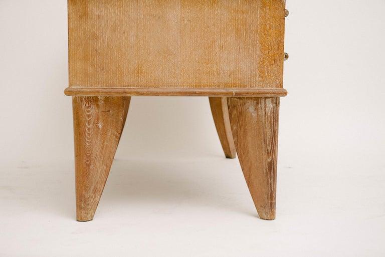 Oak French Art Deco Desk For Sale
