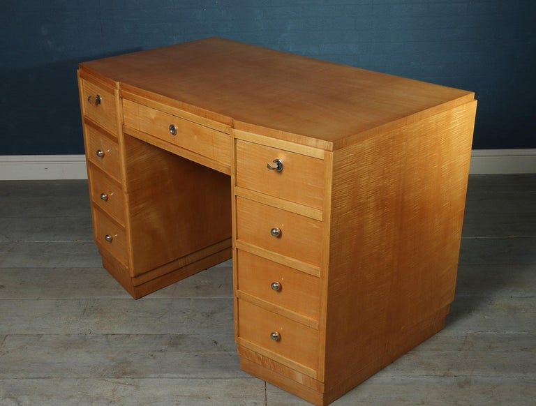 French Art Deco desk in sycamore, circa 1930