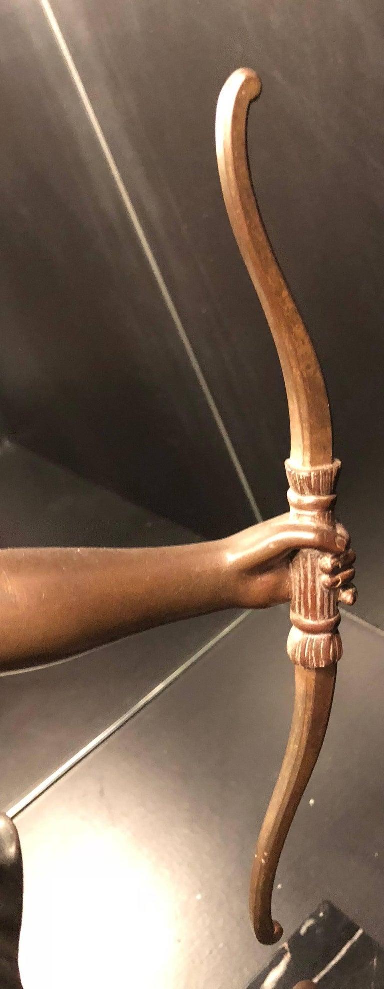 French Art Deco Diana Greyhound Bronze by Ignacio Gallo Sculpture For Sale 1