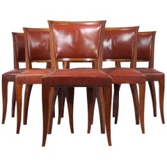 French Art Deco Dining Chairs, circa 1930