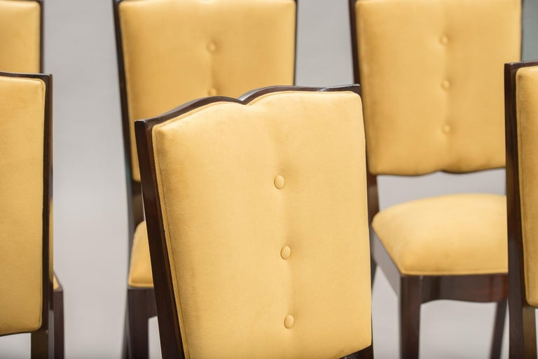 French Art Deco Dining Chairs, Set of Six For Sale 1