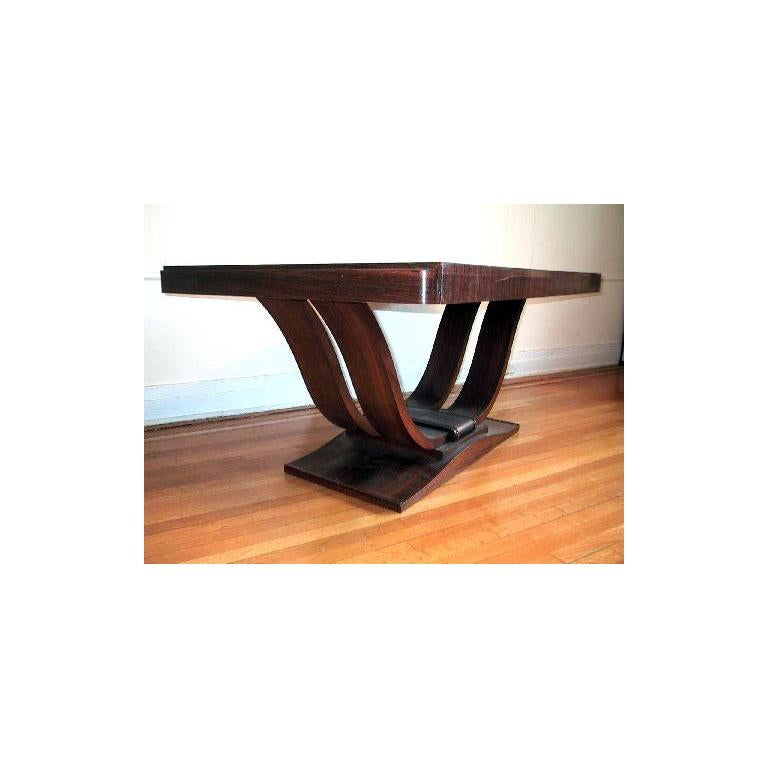 French Art Deco Dining Room Table or Desk For Sale 4