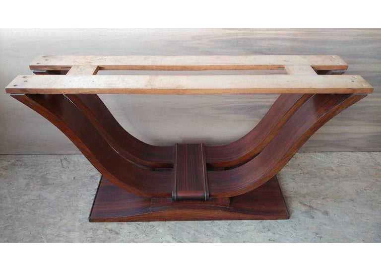 French Art Deco Dining Room Table or Desk In Good Condition For Sale In Bronx, NY