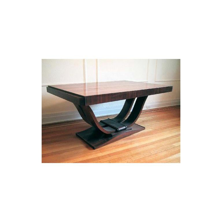 French Art Deco Dining Room Table or Desk For Sale 3