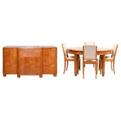 French Art Deco Dining Suite 'Table, Sideboard & 6 Chairs' by Leon Jallot c.1920