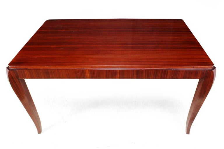 Rosewood French Art Deco Dining Table, circa 1920 For Sale