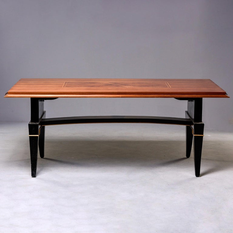 Inlay French Art Deco Dining Table For Sale