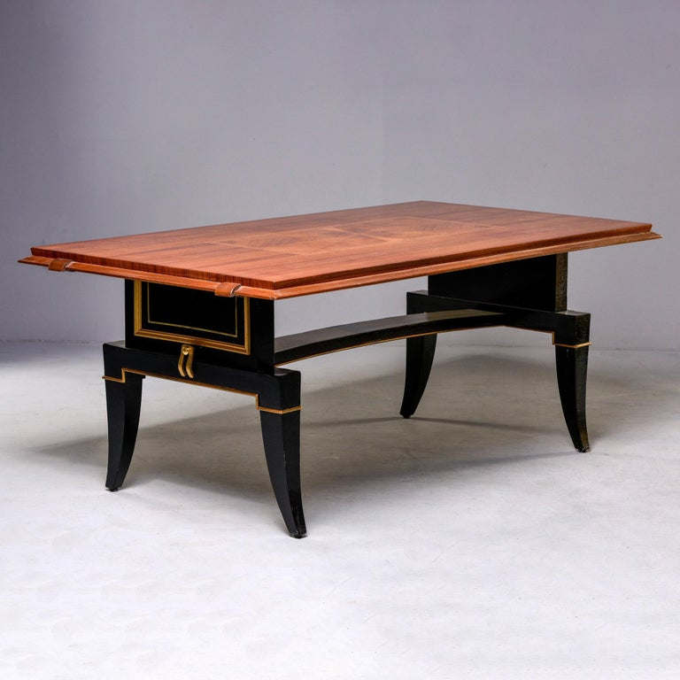 French Art Deco Dining Table In Good Condition For Sale In Troy, MI