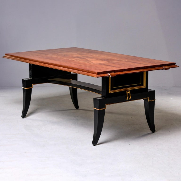 Brass French Art Deco Dining Table For Sale