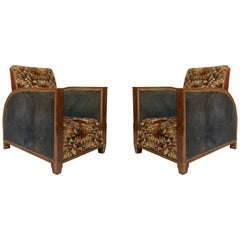 French Art Deco Dufrene Club Chairs